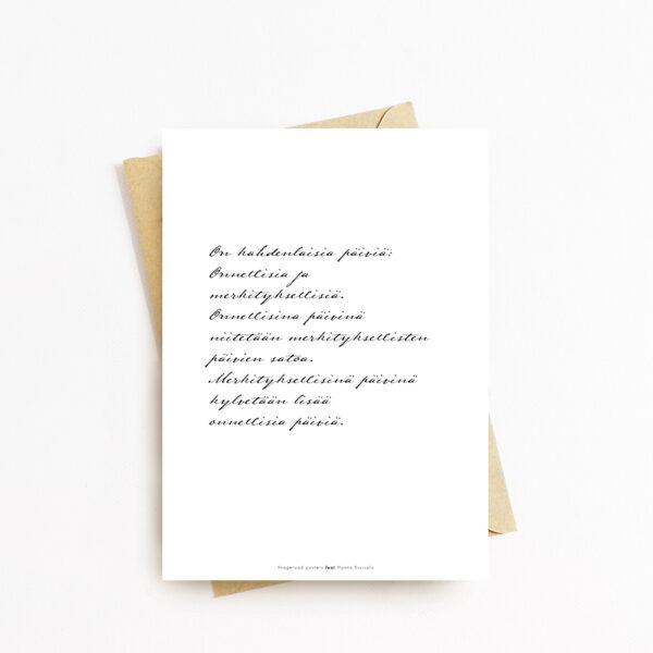 Miniposteri kirjekuorella
