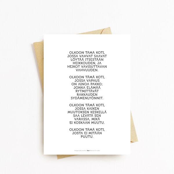 Kortti kirjekuorella